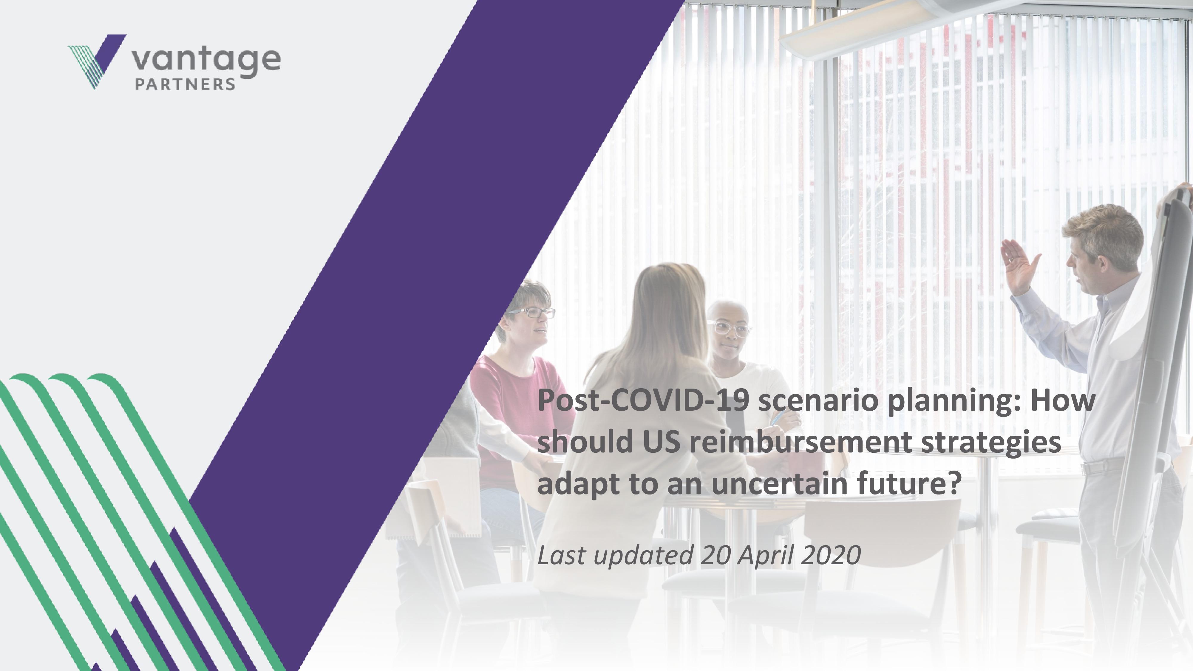 COVID reimbursement scenario planning cover slide