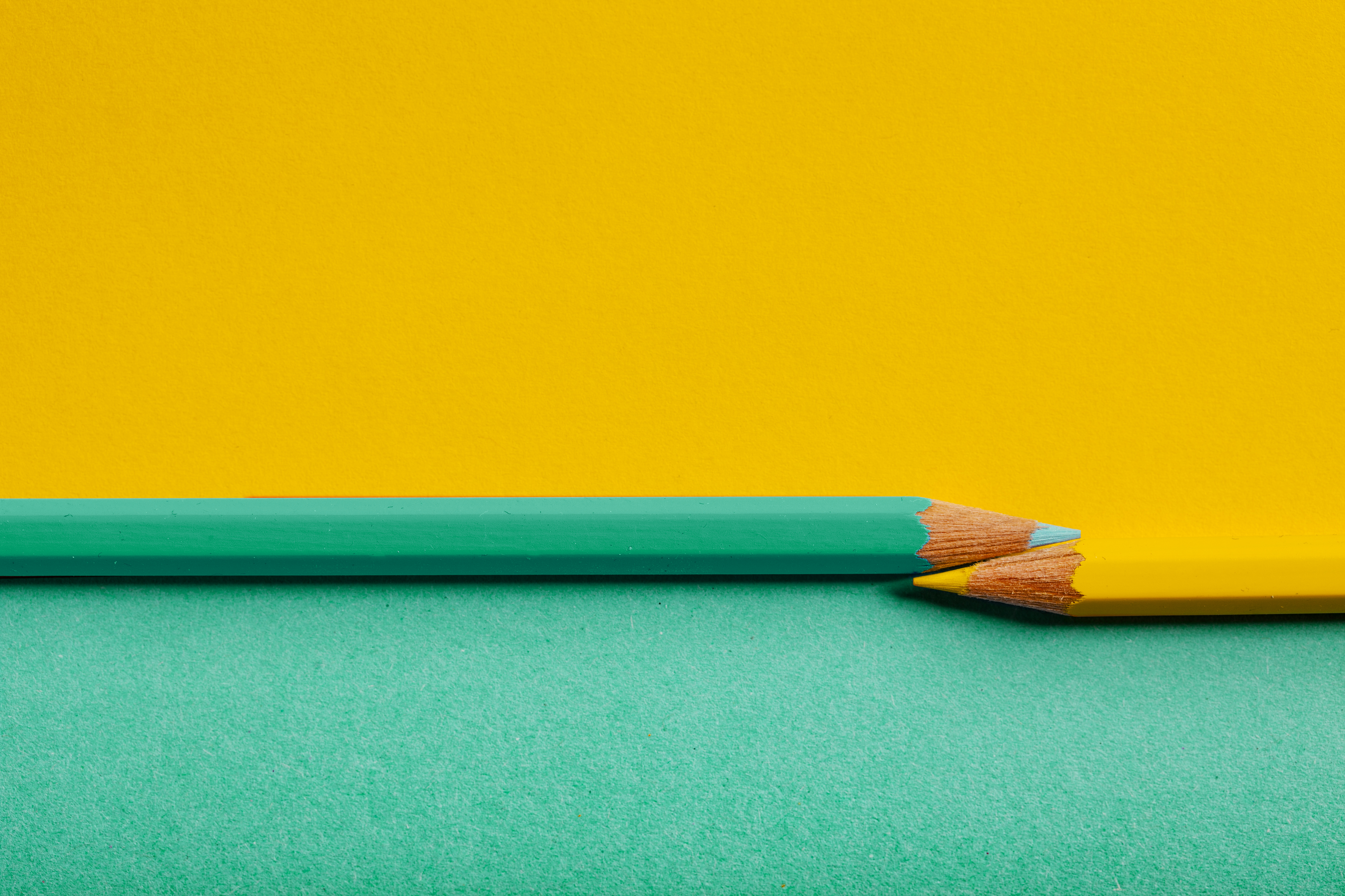Yellow Green Pencil Background